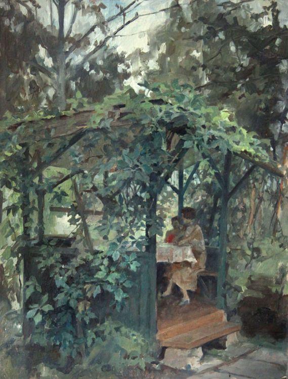 Тарас Бочаров, Екатерина Комракова. В беседке.