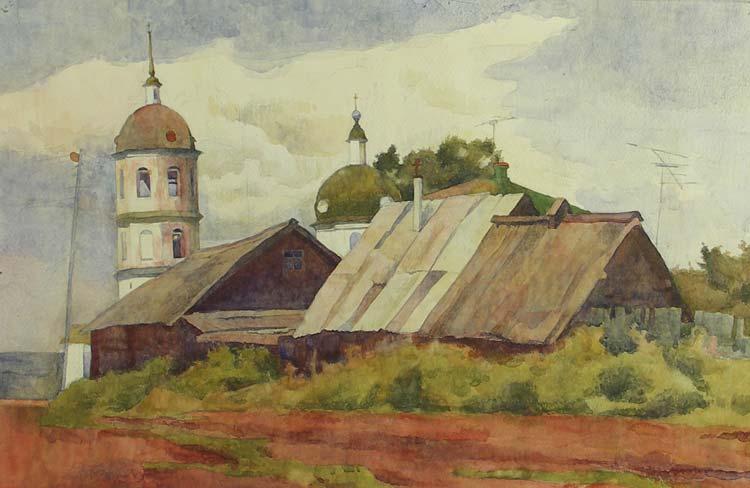 Тарас Бочаров, Екатерина Комракова. Улочка в Истобенске.