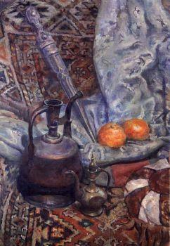 Тарас Бочаров, Екатерина Комракова. Натюрморт со старинным кинжалом.