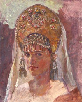 Тарас Бочаров, Екатерина Комракова. Автопортрет в кокошнике.