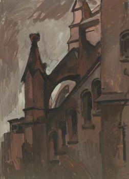 Тарас Бочаров, Екатерина Комракова. Церковь в Карлсруе. Контрафорс.