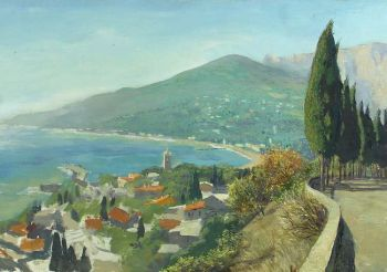 Тарас Бочаров, Екатерина Комракова. Вид на Ялту с Поликуровского холма.