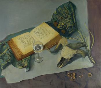 Тарас Бочаров, Екатерина Комракова. Натюрморт с черепом.